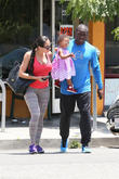 Reggie Bush, Briseis Bush and Lilit Avagyan
