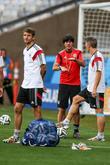 Bastian Schweinsteiger, Thomas Mueller and Joachim Loew