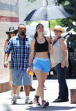Emmy Rossum gets a workout on the set of 'Shameless'