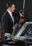 Tom Hardy and Emily Browning On Set For 'Legend' [Pictures]
