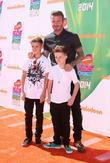 David Beckham, with sons Romeo James Beckham, UCLA's  Pauley Pavilion