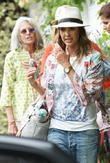 Jessica Alba and Cash Warren leave a birthday party