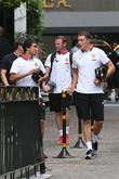 Wayne Rooney, Rafael, Phil Jones, Beverly Wilshire Hotel