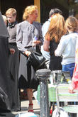 Bradley Cooper and Uma Thurman filming scenes for 'Adam Jones'