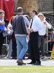 Tom Hardy films scenes for the Kray twins biopic 'Legend'