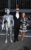Peter Capaldi, Jenna Coleman and and robot