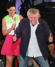 Gary Busey and Emma Willis