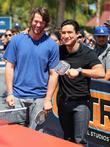 Clayton Kershaw and Mario Lopez