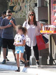 Soleil Moon Frye takes her daughter shopping in Hollywood