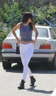 Kendall Jenner sports a cameltoe through her white jeans while out and about in West Hollywood