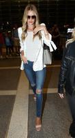 Rosie Huntington-Whiteley arrives at Los Angeles International (LAX) airport