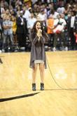 Gisele Gimenez and Singing National Anthem