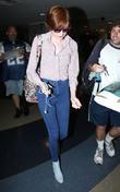 Karen Gillan arrives at Los Angeles International (LAX) airport