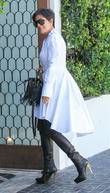 Kris Jenner has lunch at Cecconi's restaurant