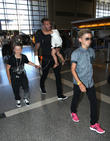 David Beckham, Harper Beckham, Cruz Beckham and Romeo Beckham