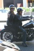 Pamela Bach-Hasselhoff enjoys a motocycle ride