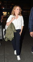 Kylie Minogue at London Heathrow Airport