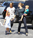 Jennifer Garner, Samuel Garner Affleck and Seraphina Rose Elizabeth Affleck
