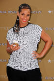 Alicia Keys at the launch of Givenchy's new fragrance 'Dahlia Divin'