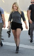 Hilary Duff films her new music video 'All About You'