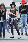 Jessica Alba spotted out in Soho with friends
