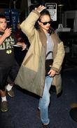 Rihanna arrives at Los Angeles International (LAX) airport