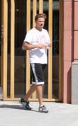 Sean Stewart grabs a juice in Beverly Hills