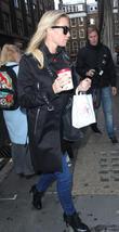 Denise van Outen arriving at Heart FM studios