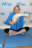 Kelly Rutherford and Aflec Duck