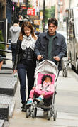 Ron Livingston, Rosemarie Dewitt and Gracie Livingston