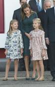 Spain's Queen Letizia, Princess Leonor and Princess Sofia