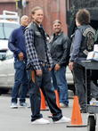 """Charlie Hunnam filming """"Sons Of Anarchy"""""""