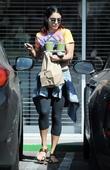 Vanessa Hudgens leaves Break Room Cafe in Studio City