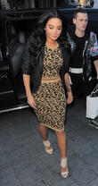 Tulisa Contostavlos arriving at Capital FM