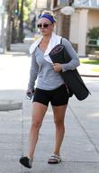 Kaley Cuoco leaving yoga class