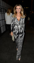 Celebrities arrive at Neighbourhood restaurant for a farewell party for Gemma Merna who is leaving the 'Hollyoaks' cast