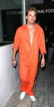 Celebrities dressed in Halloween costumes outside 1 Oak Nightclub