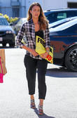 Jessica Alba arriving at her office in Santa Monica