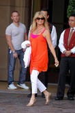 Goldie Hawn leaving the Montage Hotel