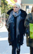 Dianna Agron goes shopping with a friend in the East Village