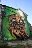 Giant Owl Street Art