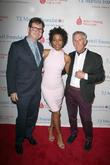 (l-r) Marc Reiter, Actress Karen Pittman and Bruce Gearhart
