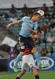 Marc Janko, Sydney Fcs Austrian Nternational and Heads The Ball Dur