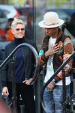 Pharrell Williams and Ellen DeGeneres