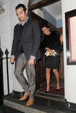 Kelly Brook leaving the Sunday Times Style Christmas party