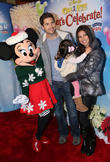 Roselyn Sanchez, Eric Winter, Sebella Rose Winter and Minnie Mouse