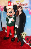 Sara Rue and Mickey Mouse