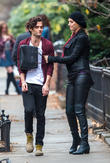 Uma Thurman and Penn Badgley
