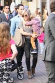 Hilary Duff, Luca Comrie and Mike Comrie