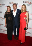 Christine Baumgartner, Kevin Costner and Lily Costner